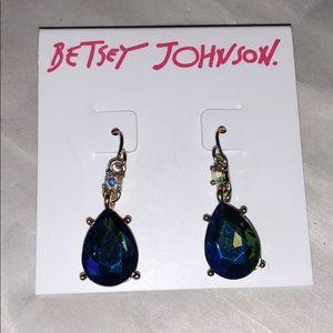 Betsey Johnson Pear Shaped Earrings